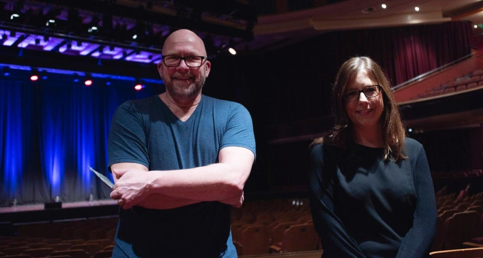 Christopher Wyer, Deaf Cultural Outreach Group and his wife at the Brighton Dome