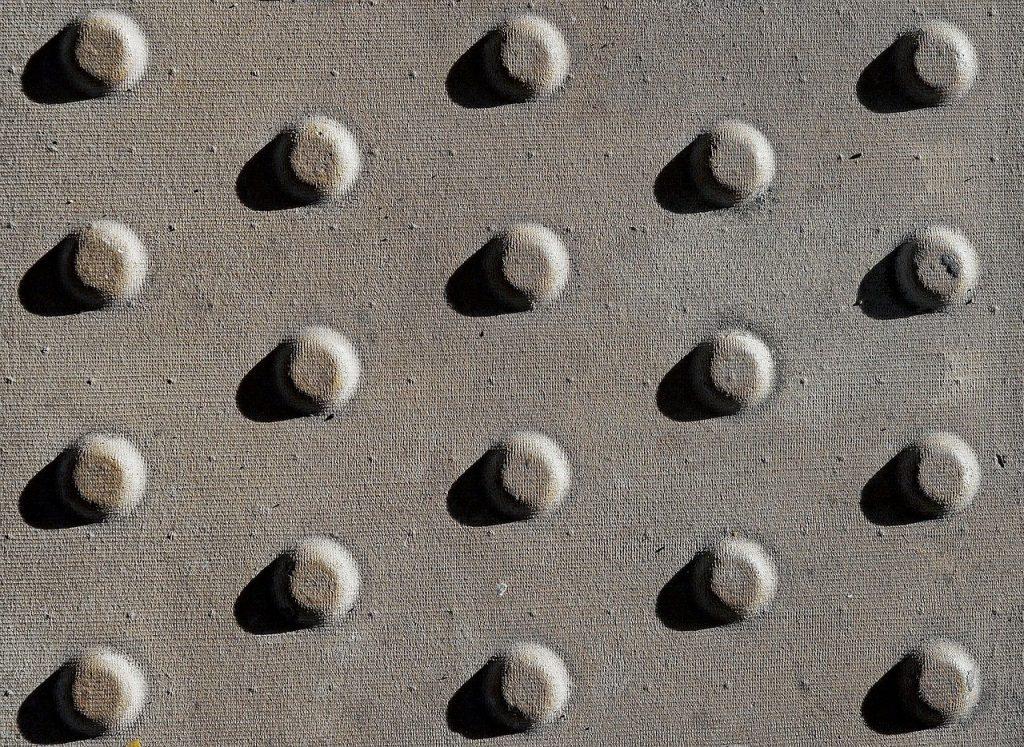 Blister tactile paving slab