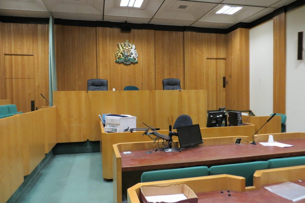 Courtroom in Birmingham Crown Courts